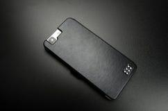 Cassa nera per il telefono cellulare Immagine Stock