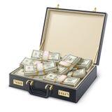 Cassa in pieno di soldi Immagine Stock Libera da Diritti