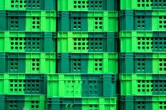 Cassa verde vuota Immagini Stock Libere da Diritti