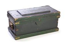 Cassa verniciata oggetto d'antiquariato Fotografia Stock Libera da Diritti