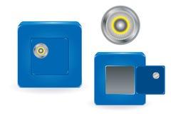 Cassaforte con la serratura di combinazione. Vettore Fotografia Stock Libera da Diritti