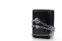 Cassaforte d'acciaio con soldi, concetto di risparmio dei soldi Immagini Stock