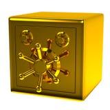 Cassaforte dorata di sicurezza Fotografia Stock Libera da Diritti