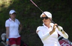 Cassandra Kirkland bij de Fourqueux-Open golfdames Royalty-vrije Stock Afbeelding