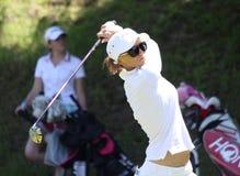 Cassandra Kirkland bij de Fourqueux-Open golfdames Stock Foto's