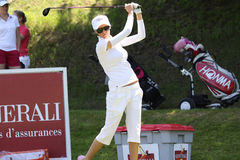 Cassandra Kirkland at the Fourqueux golf Ladies Open Royalty Free Stock Photos