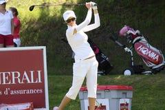 Cassandra Kirkland at the Fourqueux golf Ladies Open. FOURQUEUX  GOLF COURSE, FRANCE –JUNE  07 ,  2013 Royalty Free Stock Photos