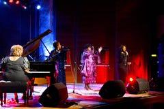Cassandra Mathews & San Francisco Gospel Diva Royalty Free Stock Photo