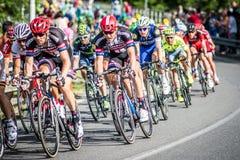 CASSANO D' ADDA, ITALIË - MEI 25.2016: Giro d' Italië, stadium 17°, in dichte nabijheid aan de stad van Cassano d&#x27 Stock Foto's