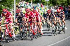 CASSANO D' ADDA, ITALIË - MEI 25.2016: Giro d' Italië, stadium 17°, in dichte nabijheid aan de stad van Cassano d&#x27 Stock Foto