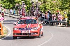 CASSANO D' ADDA, ITALIË - MEI 25.2016: Giro d' Italië, stadium 17°, in dichte nabijheid aan de stad van Cassano d&#x27 Royalty-vrije Stock Fotografie