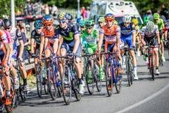 CASSANO D'ADDA, ITALY - MAY 25,2016: Giro d'Italia, stage 17°, in close proximity to the city of Cassano d'Adda. CASSANO D'ADDA, ITALY - MAY 05,2016: Giro d' Stock Photography