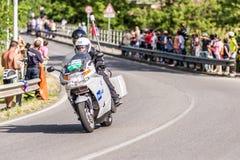 CASSANO D'ADDA, ITALY - MAY 25,2016: Giro d'Italia, stage 17°, in close proximity to the city of Cassano d'Adda. Motorcycle video shoot Stock Photos