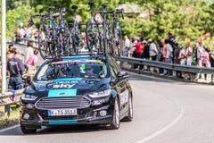 CASSANO D'ADDA, ITALY - MAY 25,2016: Giro d'Italia, stage 17°, in close proximity to the city of Cassano d'Adda. Sky team support car Stock Image