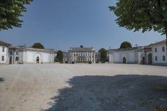 Cassano D ` Adda Milan, Italien: Villa Borromeo royaltyfria foton