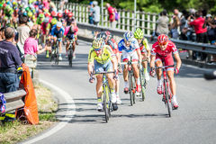 CASSANO D&-x27; ADDA WŁOCHY, MAJ, - 25,2016: Giro d&-x27; Italia, scena 17° w bliskim sąsiedztwie miasto Cassano d&-x27; Adda Fotografia Stock