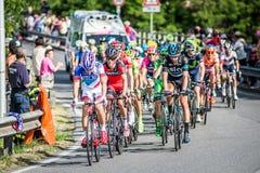 CASSANO D&-x27; ADDA WŁOCHY, MAJ, - 25,2016: Giro d&-x27; Italia, scena 17° w bliskim sąsiedztwie miasto Cassano d&-x27; Adda Obraz Royalty Free
