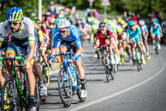 CASSANO D&-x27; ADDA WŁOCHY, MAJ, - 25,2016: Giro d&-x27; Italia, scena 17° w bliskim sąsiedztwie miasto Cassano d&-x27; Adda Zdjęcia Royalty Free