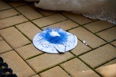 Cassant des plats sur ?pouser la tradition populaire Plat sur le plancher photo libre de droits