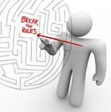 Cassant les règles - flèche par le labyrinthe illustration de vecteur