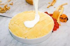 Cassata sicilian. Cassata sweet typical Sicilian with the ricotta Royalty Free Stock Photo