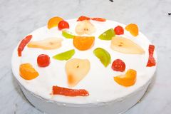 Cassata sicilian. Cassata sweet typical Sicilian with the ricotta stock photos