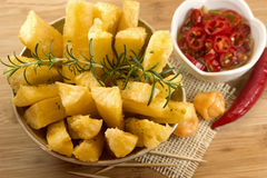 Cassava root appetizer Royalty Free Stock Photo