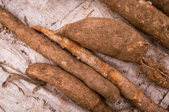 Cassava sold on african market Royalty Free Stock Image