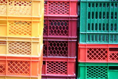 Casse colorate Immagini Stock Libere da Diritti
