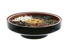 Casse-croûte chinois d'an neuf - graines et noix assorties Photo stock