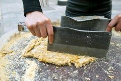 Casse-croûte chinois - gâteau de sésame Photos stock