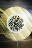 Casse-croûte dans la cuvette Photo libre de droits