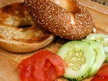 Casse-croûte de bagel Image libre de droits