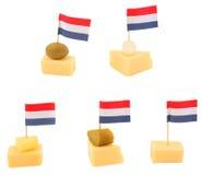 Casse-croûte de fromage de Hollande Photographie stock