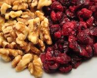 Casse-croûte de fruits secs et de noix Photo stock