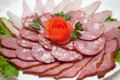 Casse-croûte de la viande Image libre de droits