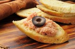 Casse-croûte de salade de jambon photos libres de droits