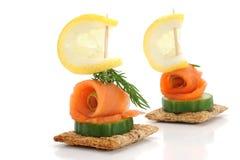 Casse-croûte de saumons de Smocked Image libre de droits