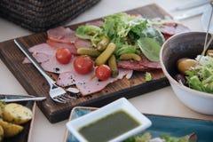 Casse-croûte de viande et de légume Image stock