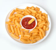 Casse-croûte - feuilletés de maïs images stock