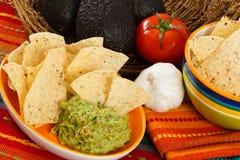 Casse-croûte frais de guacamole Photographie stock libre de droits