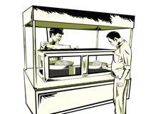 Casse-croûte indien d'aliments de préparation rapide Photos libres de droits