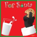 Casse-croûte pour Santa illustration de vecteur