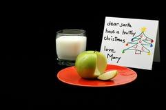 Casse-croûte sain de Santa Image libre de droits