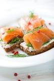 Casse-croûte saumoné Photographie stock