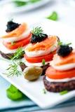 Casse-croûte saumoné Images stock