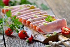 Casse-croûte avec des saucisses Photographie stock