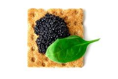 Casse-croûte avec le caviar noir photos libres de droits