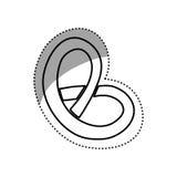 Casse-croûte d'Allemand de bretzel Photographie stock libre de droits
