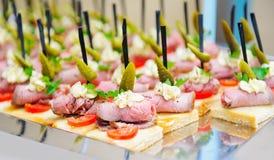 Casse-croûte de approvisionnement de buffet Photo stock
